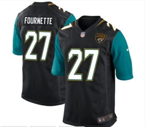 Men's Jacksonville Jaguars #27 Leonard Fournette Black Nike NFL Elite Jersey