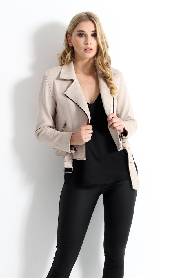Transitioning into the new season calls for an upgrade in outerwear and the hero piece of the season, the Biker Jacket is your sartorial solution. The latest arrival to our Premium Collection creates endless outfit possibilities, we love the editor approved style tip to wear over your shoulders for off-duty appeal.