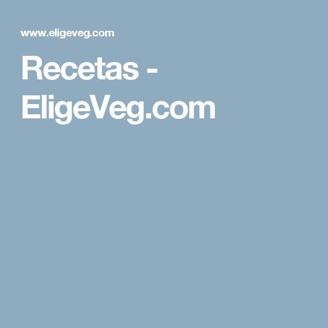 Recetas - EligeVeg.com