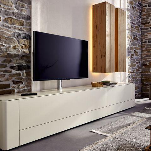 gentis lowboard mit zwei h ngeelementen von h lsta. Black Bedroom Furniture Sets. Home Design Ideas