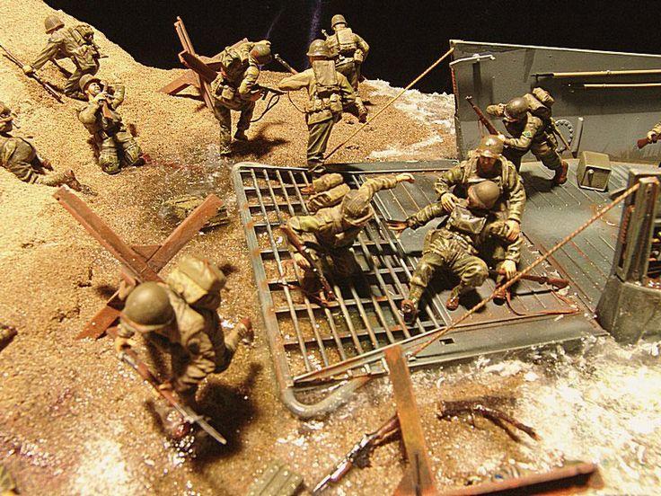 d day diorama battlefield