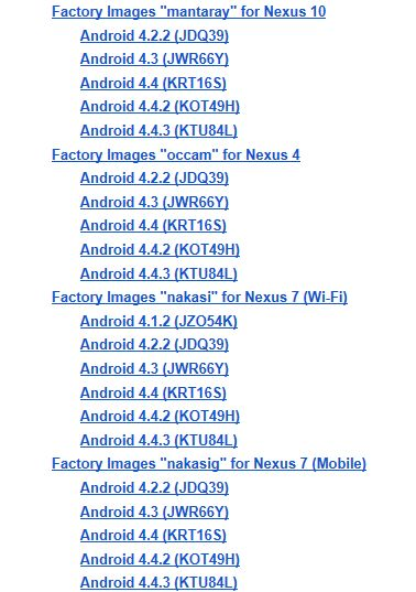 Android 4.4.3 Factory Image for Nexus Devices Released