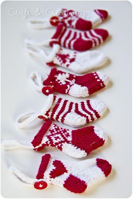 Dagens pyssel, små julstrumpor – Craft of the Day, miniature christmas stockings | Craft & Creativity – Pyssel & DIY