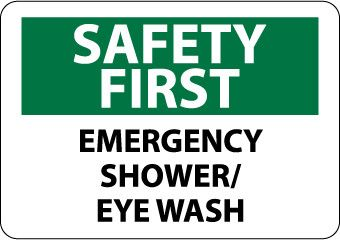 Safety first, emergency shower/eye wash, 7x10, rigid ...
