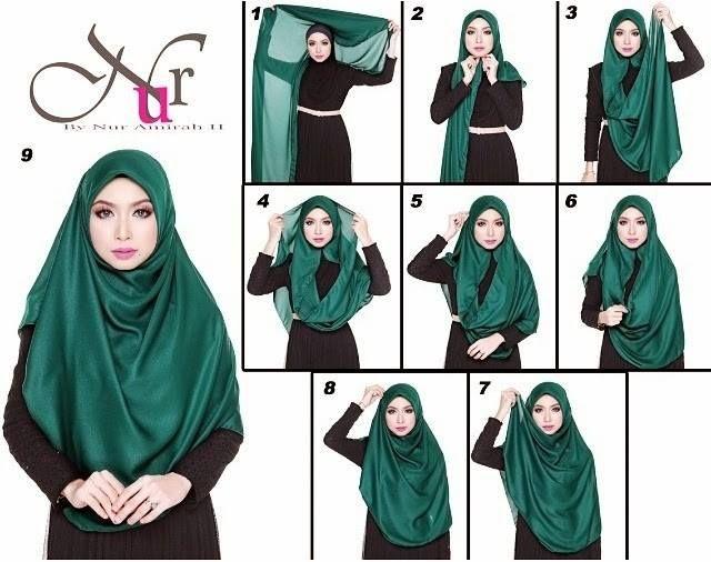 Tudung Selendang .. Cara ii buat tudung shawl :)) . Mudah kan ;;