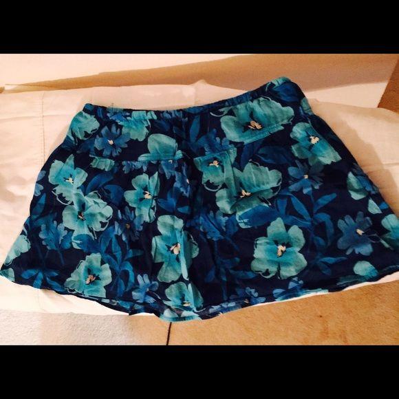 Aeropostale Mini skirt.....SOLD Blue floral mini skirt, 100% cotton Aeropostale Skirts Mini