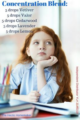 Essential Oils for Focus & Memory in Kids - If you're looking for essential oil concentration blend, check this out!