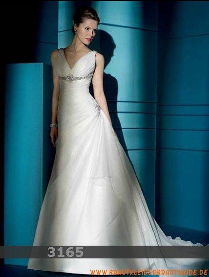 2013 Sexy elegante Brautmode Frankfurt aus Chiffon V-Ausschnitt