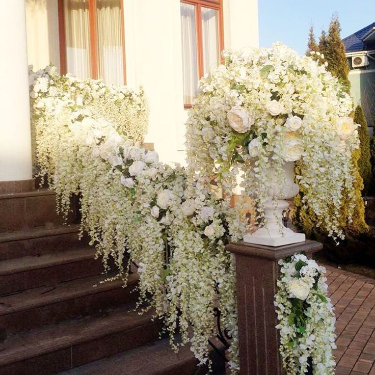 Lilies Wedding Reception Entrance Decorations