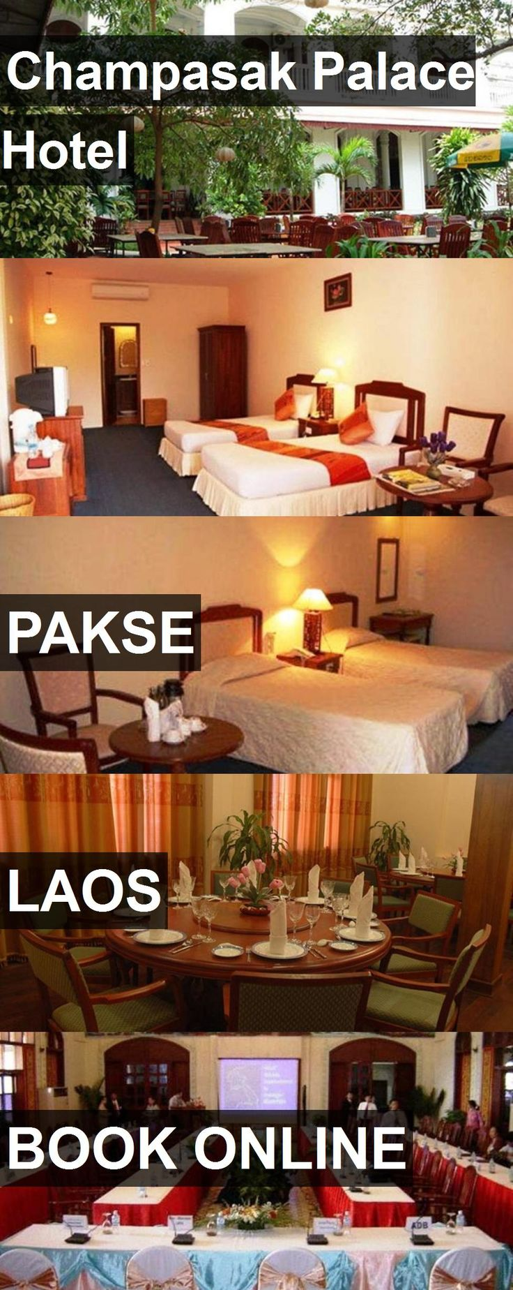 Champasak Palace Hotel in Pakse, Laos. For more information, photos, reviews and best prices please follow the link. #Laos #Pakse #travel #vacation #hotel