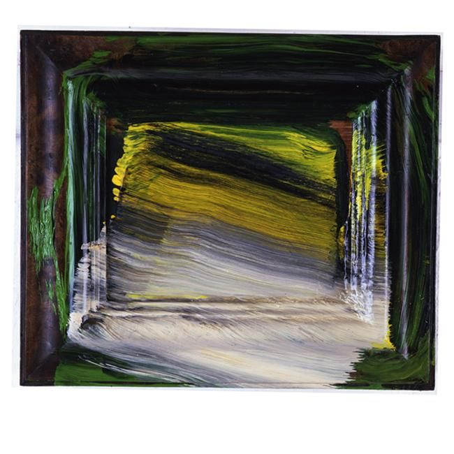 Hodgkin Snowfall  2010  8 5/8 x 10 1/8, 22 x 25.7 cm Painting Oil on Wood