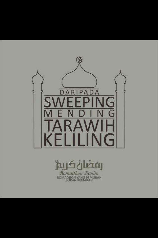 Sweeping; tak baik :)