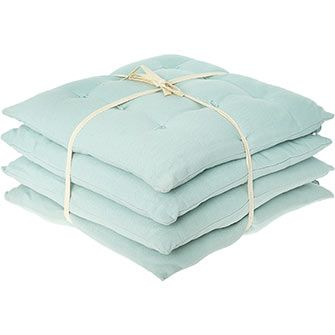 Four Pack Green Seat Pads 40x40cm