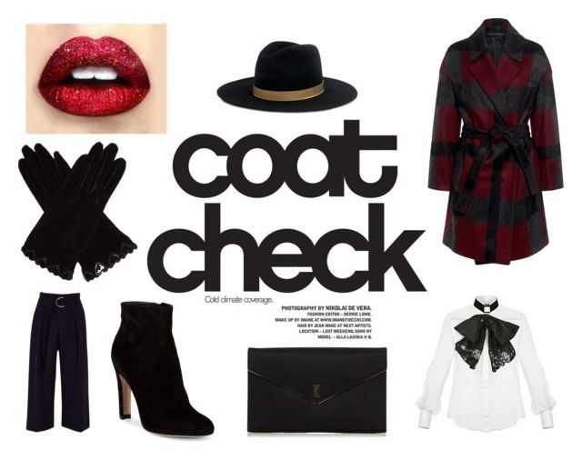 """Statement Coat"" by gothicvamperstein on Polyvore featuring Pink Tartan, Elisabetta Franchi, River Island, Gianvito Rossi, Yves Saint Laurent, Janessa Leone, AGNELLE and statementcoats"