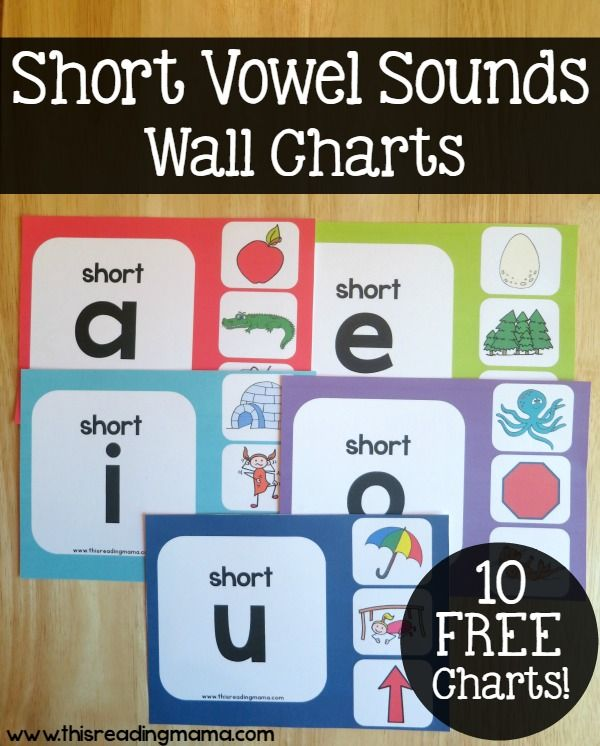 Short Vowel Sounds Wall Charts {Free Resource} | This Reading Mama