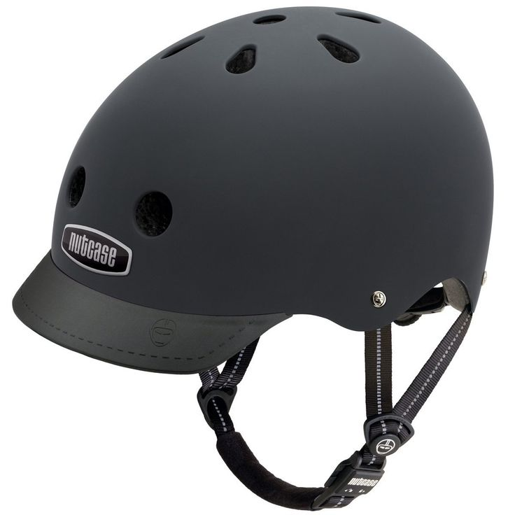 Nutcase - Solid Street Bike Helmet for Adults, Blackish Matte, Medium