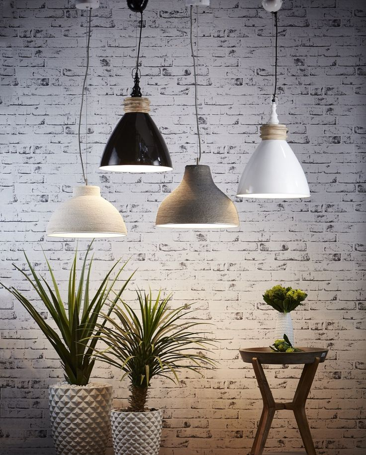 Simple dome pendant lights, either a painted shade with timber accent, or fabric cord covered (beige and grey ones) - both will add a textured, natural feel without taking attention away form the Corals