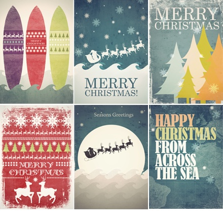 christmas design inspiration-  Traditional inspired christmas design. Looking at christmas from different perspectives and from different places such as surf boards to show that some countries like Australia celebrate Christmas on the beach. The father christmas is generic idea of christmas targeted at younger generation.