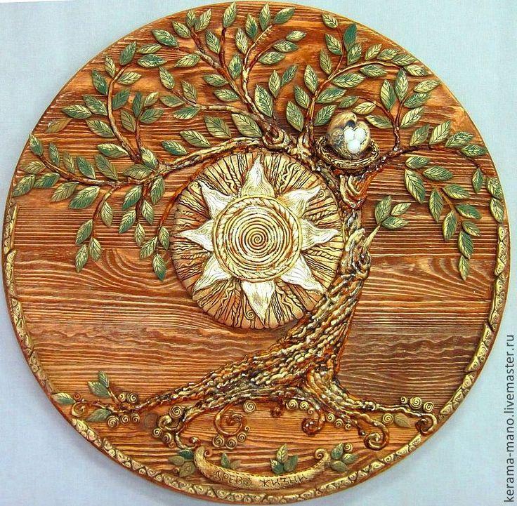"""Купить панно """" Древо жизни"""" (2) - древо жизни, солнце, птица счастья"""