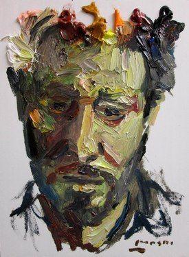 "Saatchi Online Artist Masri Hayssam; Painting, ""Self p."" #art"
