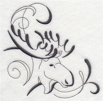 Machine Embroidery Designs at Embroidery Library! - Moose