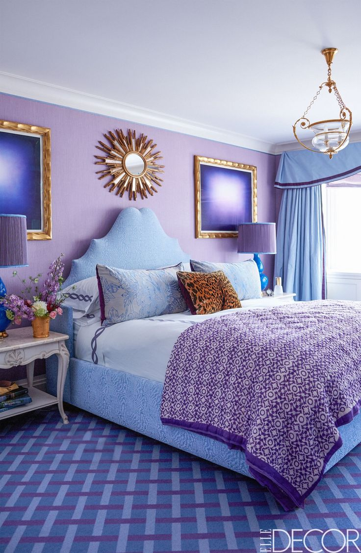 1000 ideas about blue purple bedroom on pinterest color for Blue white and silver bedroom ideas