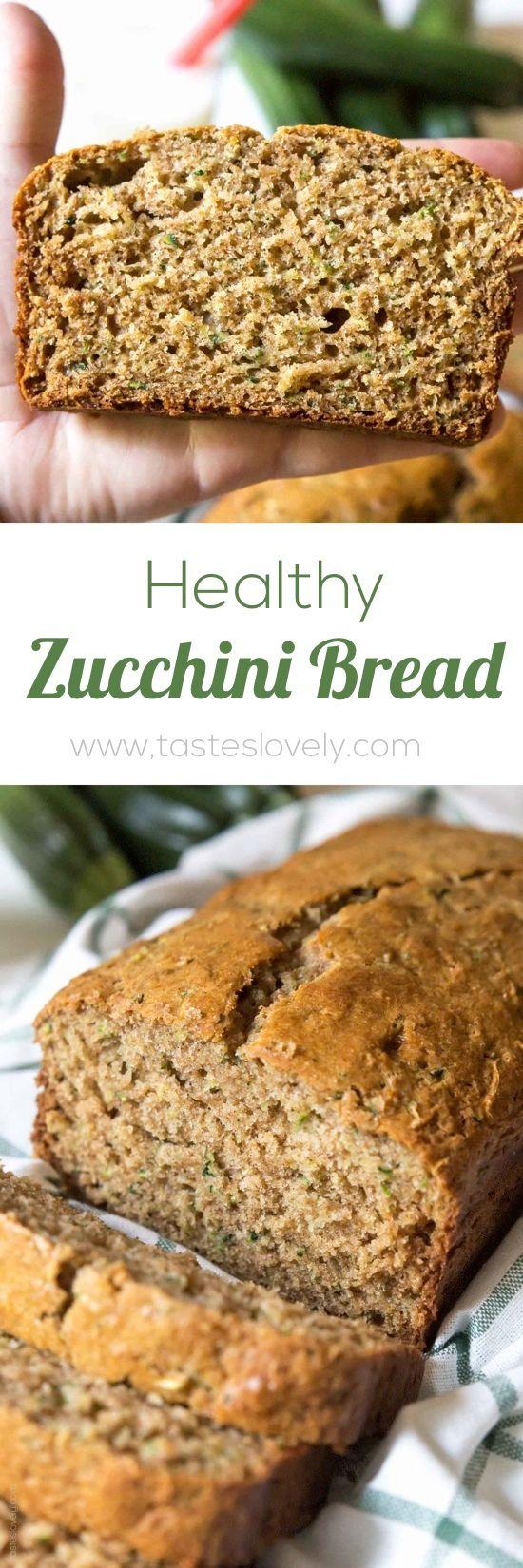 healthy zucchini bread  tastes lovely  zucchini bread