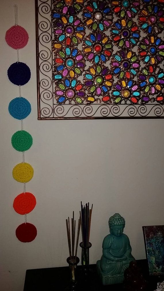 Hey, I found this really awesome Etsy listing at https://www.etsy.com/listing/216192721/crochet-chakra-wall-hanging