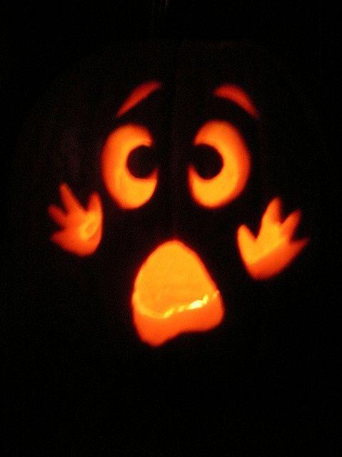 surprise carving pumpkins idea. he's too cute.