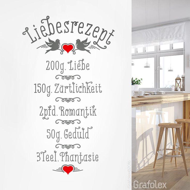 Luxury Wandtattoo Liebesrezept Liebe Wandaufkleber Spruch Wand Aufkleber Fa wsa