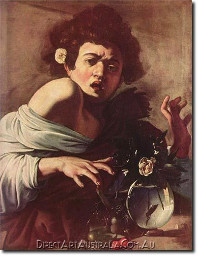 Caravaggio | Boy Bitten by a Lizard, 1594-96 - Direct Art Australia,  Availability: Delivery 10 - 14 days,  Shipping: Free Shipping,  Minimum Size: 50 x 60 cm,  Maximum Size : 100 x 150 cm,   View the artwork before it is sent!  www.directartaustralia.com.au/