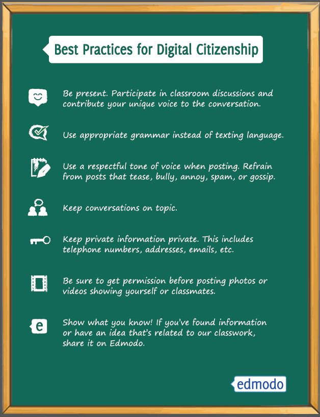 Educational Technology Guy: Edmodo - awesome free social learning network - has free Digital Citizenship poster for download