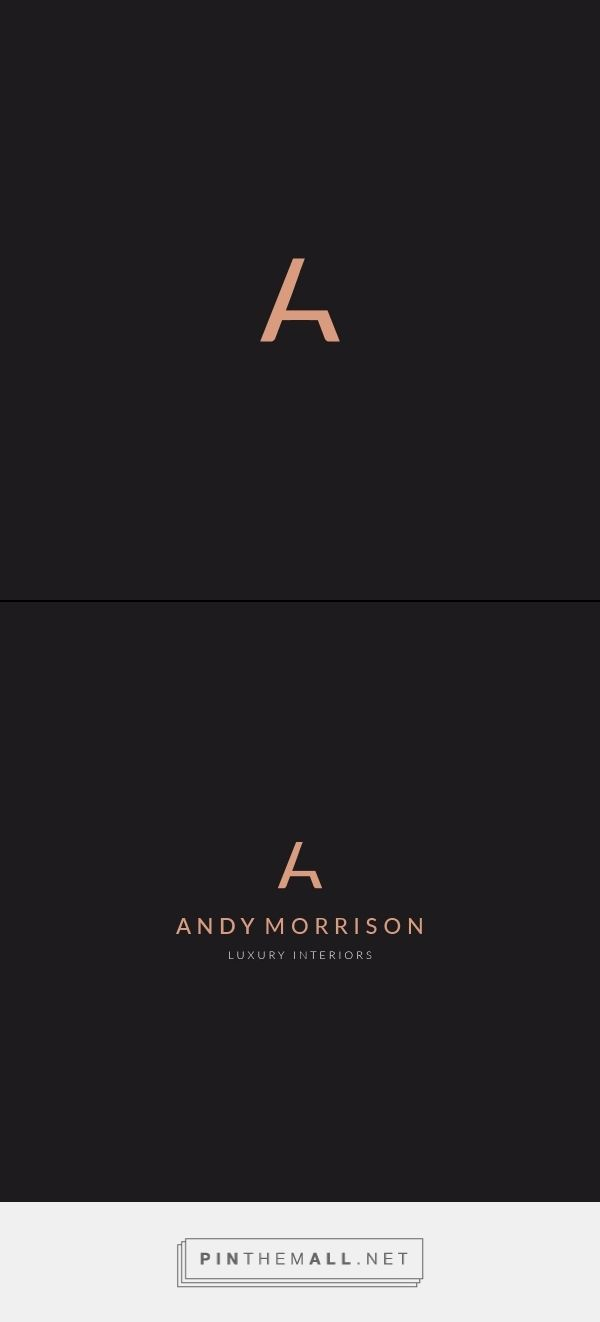 Andy Morrison Luxury Interiors Logo Design by Brian Champ (Via Brianchamp.com) #luxurylogo #bcgd #brianchamp