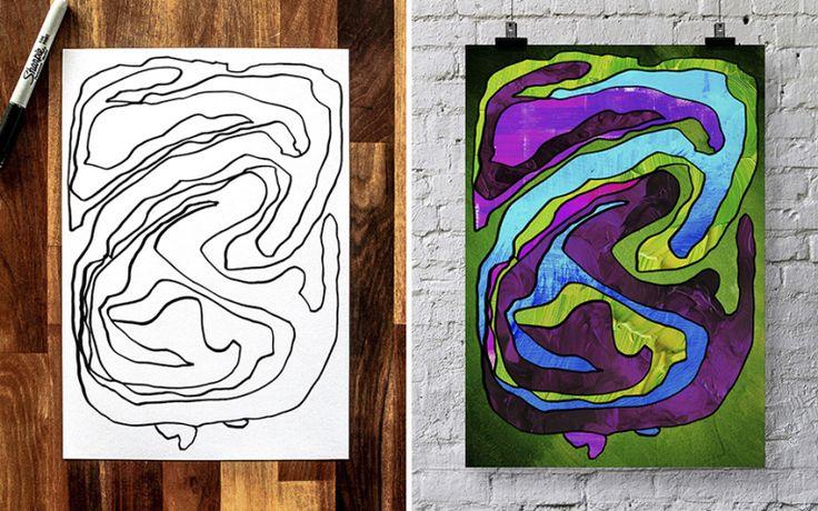 Artista aproveita os desenhos do filho de três anos para fazer arte | Virgula