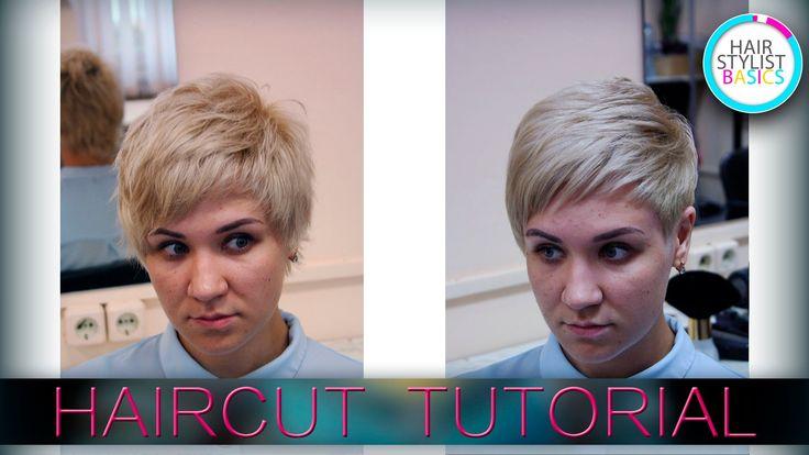 haircut women's for a thick curly hair   (женская стрижка для густых вью...