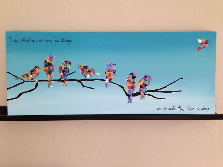 Class project: This piece sold for $1200+ at  the live action at the preschool fundraiser.