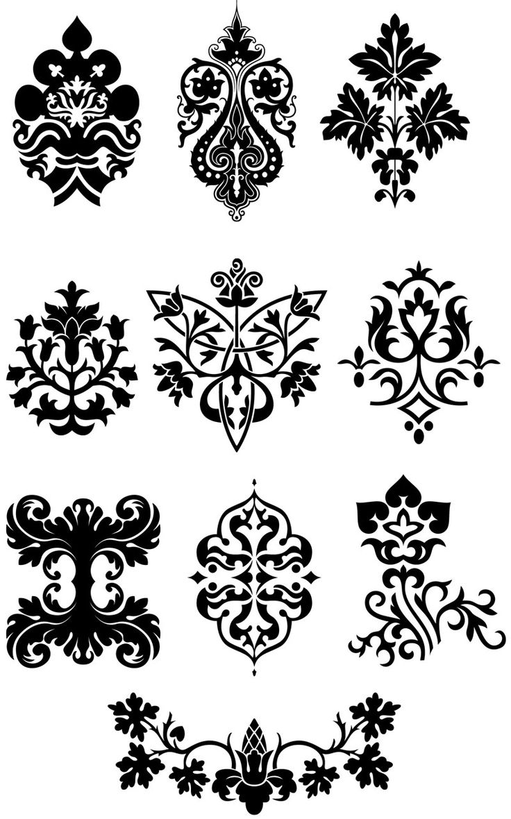 Green floral design vector graphic free vector graphics all free - Set Of Vector Decorative Ornamental Elements For Your Classic Floral Ornaments And Embellishment