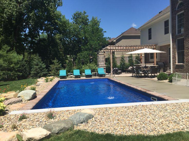 1000 Images About Backyard Fiberglass Inground Swimming