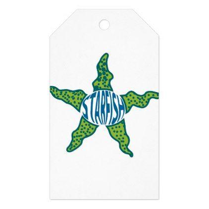 Starfish Cartoon Gift Tags - craft supplies diy custom design supply special