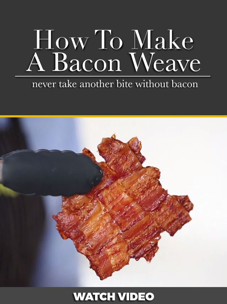 "VIDEO: How to make a bacon weave: I asked myself ""why would you wanna weave bacon""? Well I tried it because I cook my bacon in the oven anyway and I wanted a way to keep the bacon on my BLT sandwiches from falling out. This really works! Tried 1/18/16"