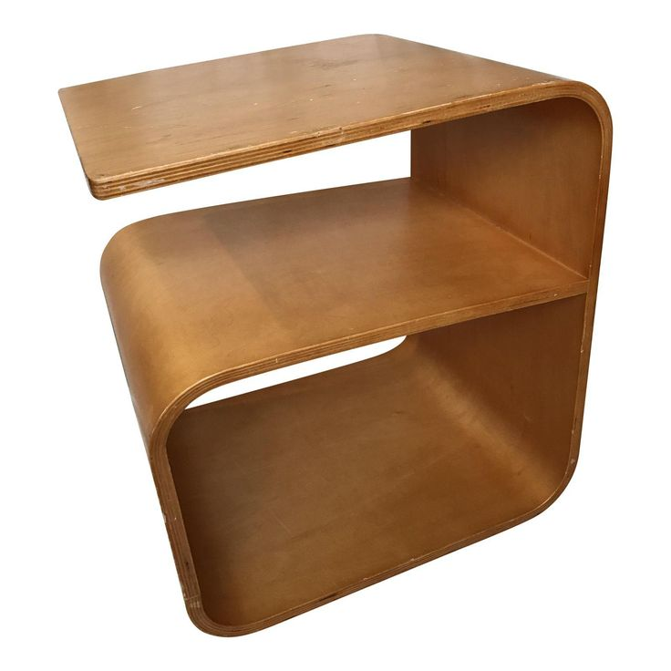 Image of Vintage Curved Plywood Side Table