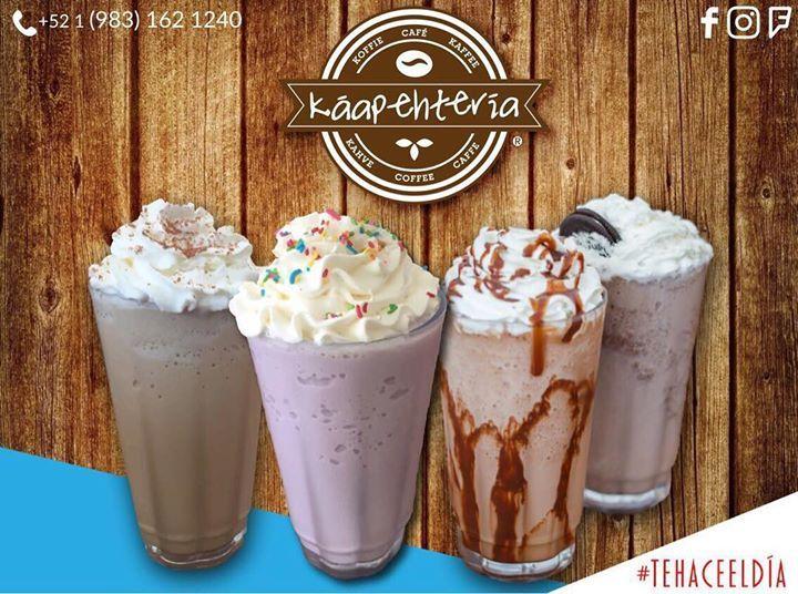 Ven a probar nuestros nuevos sabores de frappés todos te encantarán... están deliciosos!  SERVICIO A DOMICILIO AL: (983) 162 1240.  #Káapehtería #TeHaceElDía #ConsumeLocal #KáapehCOMBO #Káapehtear #Cafetería #Café #Alimentos #Postres #Pasteles #Panes #Cancún #Chetumal #México