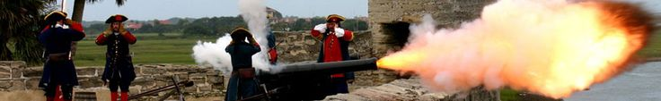Cannon firing on the gundeck of the Castillo de San Marcos--only on Fridays, Saturdays, & Sundays