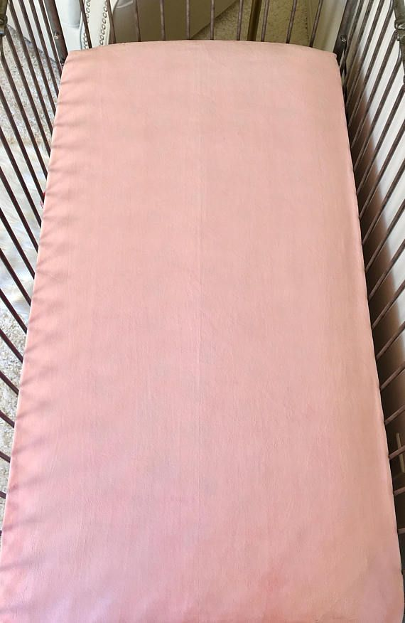 Blush Crib Sheet Minky Fitted Crib Sheets Girl Fitted Crib