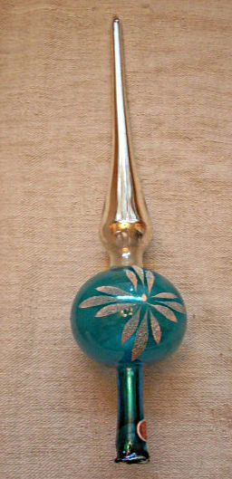 Antique Silvered Glass tree topper