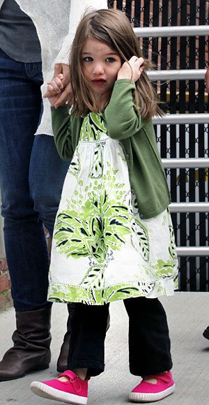 Suri Cruise's Cutest Outfits - A BabyGap Dress from #InStyle
