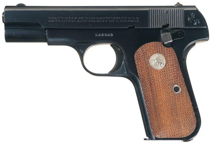 Пистолет Кольт образца 1903 года со скрытым курком карманный калибра .32 ACP (кликните по изображению, чтобы увидеть фото полного размера)