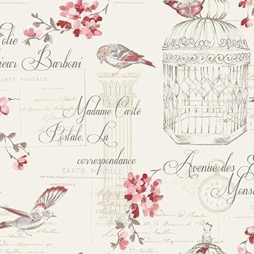 Carta da parati Holden Décor con uccellini,fiori, motivo francese tipografato - Rosso Panna 11317 Aviary http://www.amazon.it/dp/B00L37CABG/ref=cm_sw_r_pi_dp_SW8zub01A8BJZ