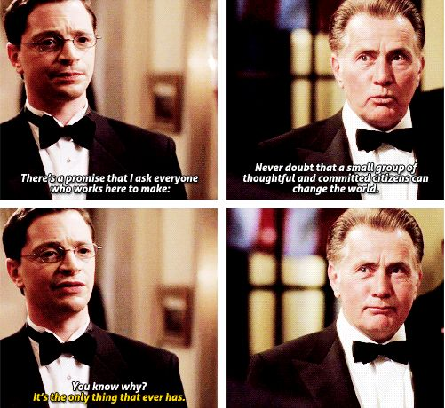 "When Bartlet hired Will. | 18 ""The West Wing"" Moments That Will Give You Hope"