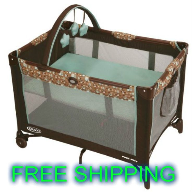 Baby Play Yard Travel On The Go Folding Portable Toy Bar Durable Frame Bassinet #Unbranded